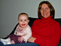 Esmée and aunt Ingrid, 2006